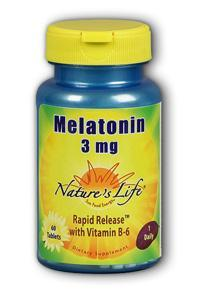 Natures life: Melatonin 3 mg 60ct
