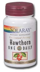 Solaray: One Daily Hawthorn Extract 30ct 600mg