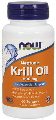 Neptune Krill Oil 500mg 60 Gels from NOW
