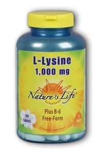 Natures Life: L-Lysine, 1000mg 100ct 1000mg