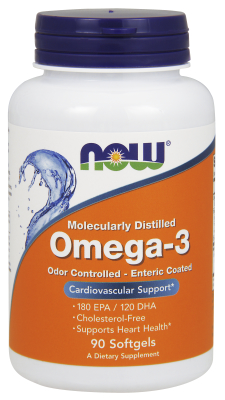 NOW: MOLEC-DISTILLED OMEGA-3  NEW  90 SGELS 1