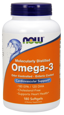 MOLEC-DISTILLED OMEGA-3  NEW  180 SGELS, 1