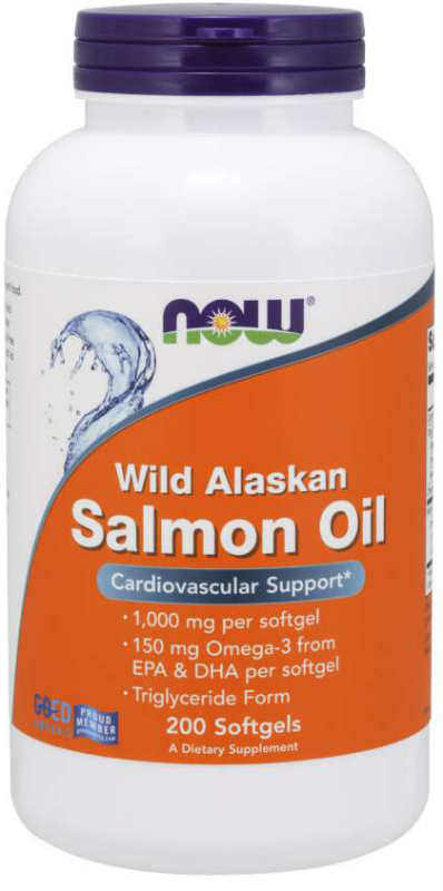 NOW: Wild Alaskan Salmon Oil 200 softgels