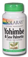 Yohimbe and Saw Palmetto Propietary Blend, 100ct 490mg