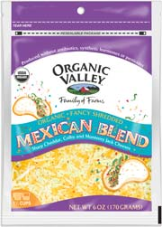Organic Valley: Mexican cheese,og,shred 6 OZ