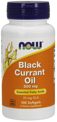 NOW: BLACK CURRANT OIL 70mg  100 SGELS 100 sg