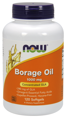 NOW: BORAGE OIL 1000mg  120 SGELS 120 sg