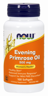 NOW: EVENING PRIMROSE 500mg  100 SGELS 1
