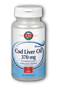 KAL: Cod Liver Oil 100ct  Softgel