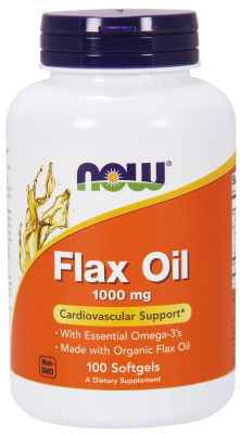 NOW: FLAX OIL 1000mg  100 SGELS 1