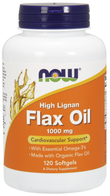 NOW: HI LIGNAN FLAX OIL 1000mg  120 SGELS 1