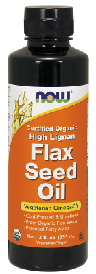 NOW: HIGH LIGNAN FLAX OIL LIQUID  12 OZ 1