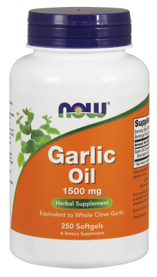GARLIC OIL 1500mg  3X  250 SGELS, 1