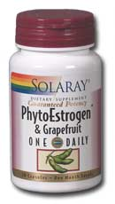 Solaray: One Daily PhytoEstrogen With  Grapefruit 30ct 150mg