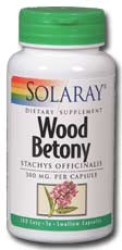 Wood Betony, 100ct 300mg