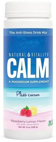 NATURAL VITALITY: Calm Plus Calcium Raspberry Lemon 8 OUNCE