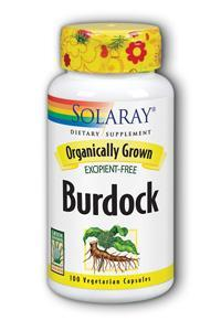 Solaray: Organic Burdock Root 100ct 540mg