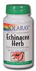 Solaray: Echinacea purpurea Herb 100ct 380mg