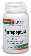 Solaray: Serrapeptase 90ct - 20,000 Units