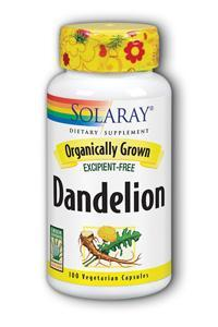 Solaray: Organic Dandelion Root 100ct 520mg