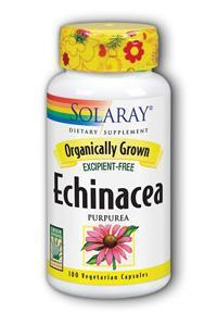 Solaray: Organic Echinacea Purpurea 100ct 415mg