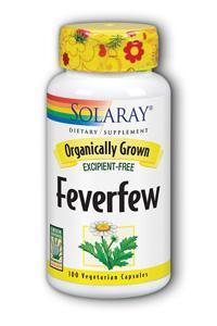 Solaray: Organic Feverfew Leaf 100ct 455mg