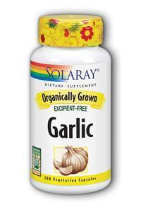 Solaray: Organic Garlic 100ct 600mg