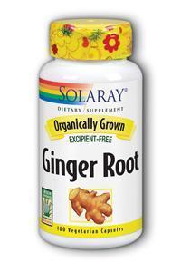 Solaray: Organic Ginger Root 100ct 540mg