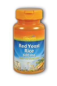 Thompson Nutritional: Red Yeast Rice 600mg 60ct 600mg