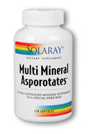 Solaray: Multi Mineral Asporotates 120ct