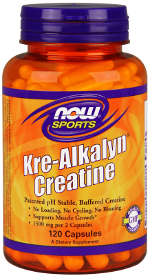 Kre-Alkalyn Creatine 750mg 120 Caps from NOW