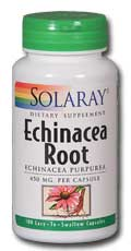 Solaray: Echinacea purpurea Root 100ct 450mg