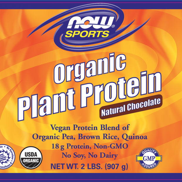 NOW: Organic Plant Protein Powder 2 lbs Chocolate