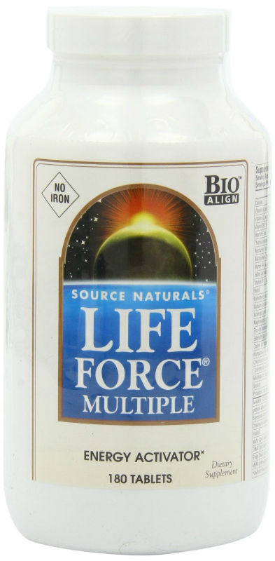 SOURCE NATURALS: LIFE FORCE NO IRON 180 Tabs
