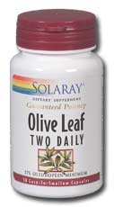 Solaray: Olive Leaf Two Daily 30ct 500mg