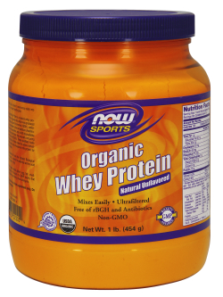 NOW: Organic Whey Protein Concentrate Powder 1lb