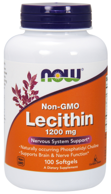 NOW: LECITHIN 1200mg  100 SGELS 1