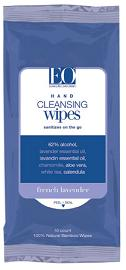 EO PRODUCTS: CLEANSING HAND WIPES LAVENDER 10CT