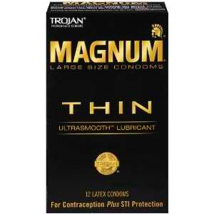 Trojan Condoms: Condom Magnum Thin Lubricated 12 CT