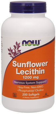 NOW: Sunflower Lecithin 1200mg 200 Gels