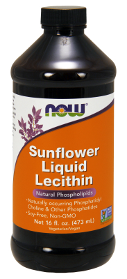 NOW: Sunflower Liquid Lecithin (Non-GMO) 16 fl oz