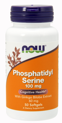 NOW: PHOS SERINE  GINKGO 100  60mg 50 SGELS 1