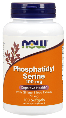 NOW: PHOS SERINE  GINKGO 100  60mg 100 SGELS 1
