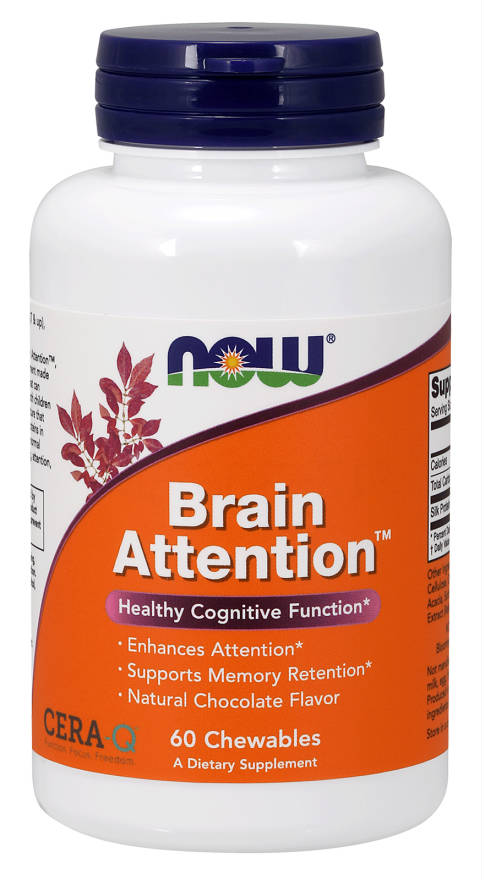 NOW: Brain Attention 60 Chewable s