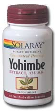 Solaray: Yohimbe Extract 60ct 135mg
