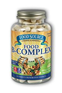 Solaray: Food Source Food B-Complex 100ct