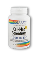 Solaray: Cal-Mag Strontium With D-3 120 Vcp 600 300 50mg
