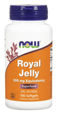 NOW: ROYAL JELLY 300mg  100 SGELS 1