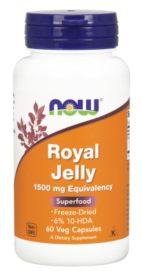 NOW: ROYAL JELLY 1500mg  60 CAPS 1