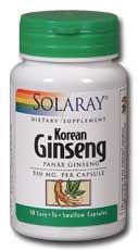 Ginseng Root--Korean, 50ct 550mg